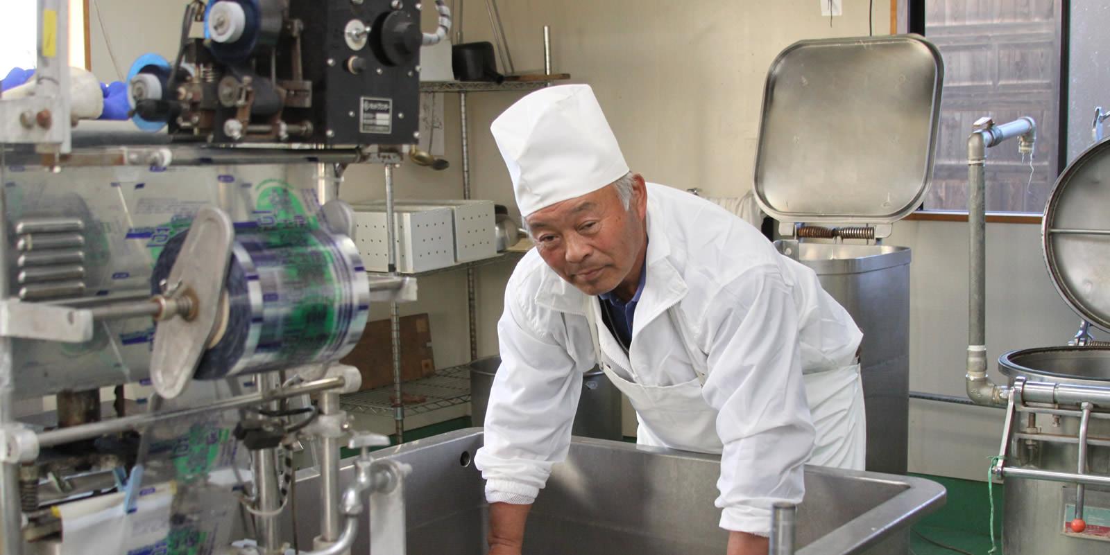 岩村ファーム 豆工房 豆腐つくり